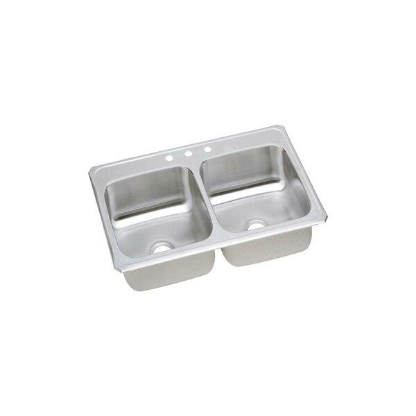 Celebrity 43 L x 22 W Double Basin Drop-in Kitchen Sink