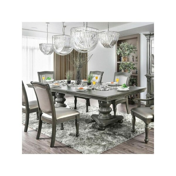 Montcalm Traditional Solid Wood Dining Table by Alcott Hill