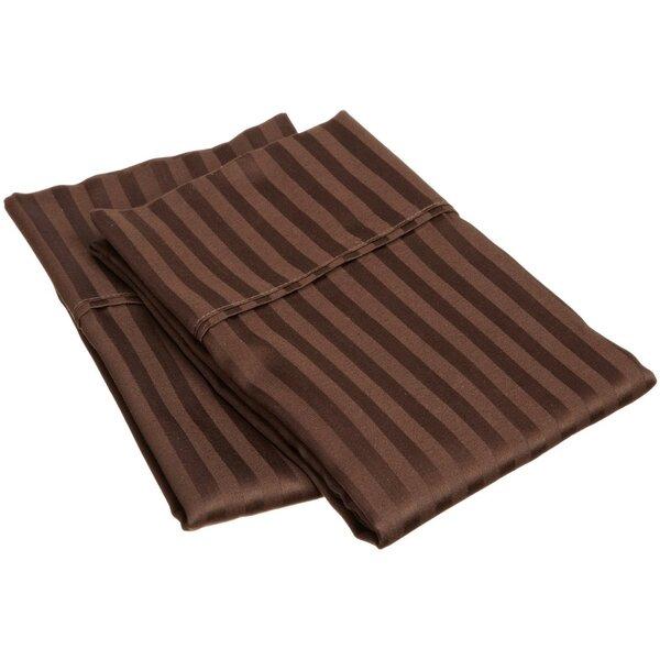 Holeman 300 Thread Count Stripe Pillowcase Pair (Set of 2) by Charlton Home