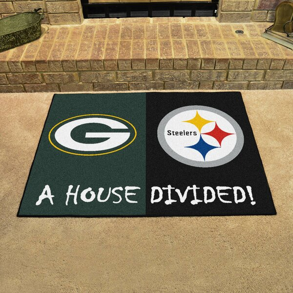 NFL House Divided - Packers / Steelers House Divided Mat by FANMATS