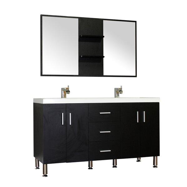 Rick 56 Double Bathroom Vanity Set