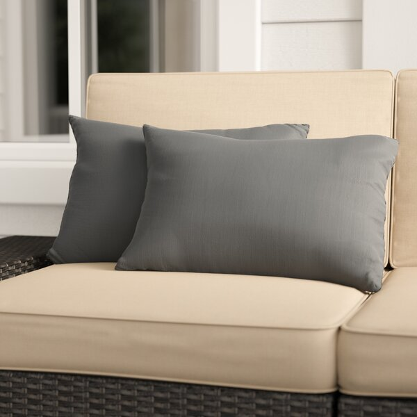 Mackenzie Indoor/Outdoor Sunbrella Lumbar Pillow (Set of 2) by Laurel Foundry Modern Farmhouse