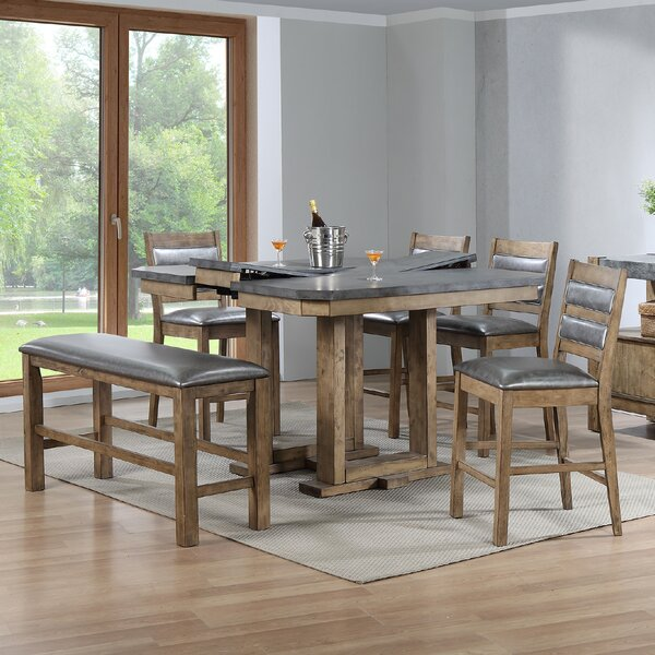 Warthen 6 Piece Counter Height Dining Set by Gracie Oaks
