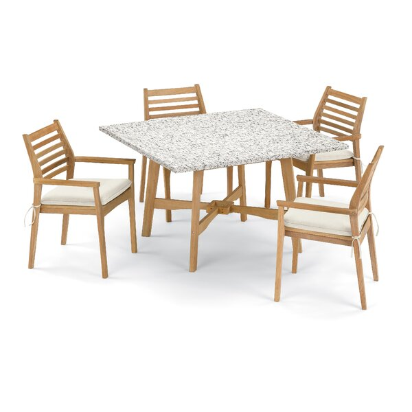 Huggins 5 Piece Dining Set with Cushions