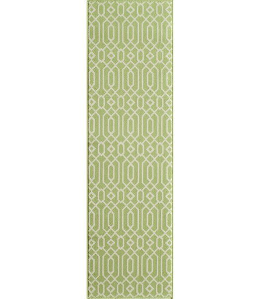 Halliday Green Indoor/Outdoor Area Rug by Beachcrest Home