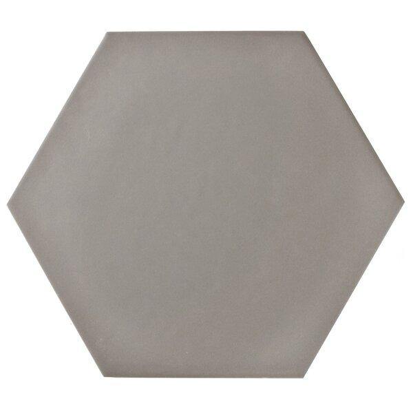 Hexitile 7 x 8 Porcelain Field Tile in Matte Gray by EliteTile