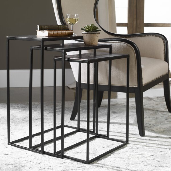 Carr Iron 3 Piece Nesting Tables (Set of 3) by Williston Forge