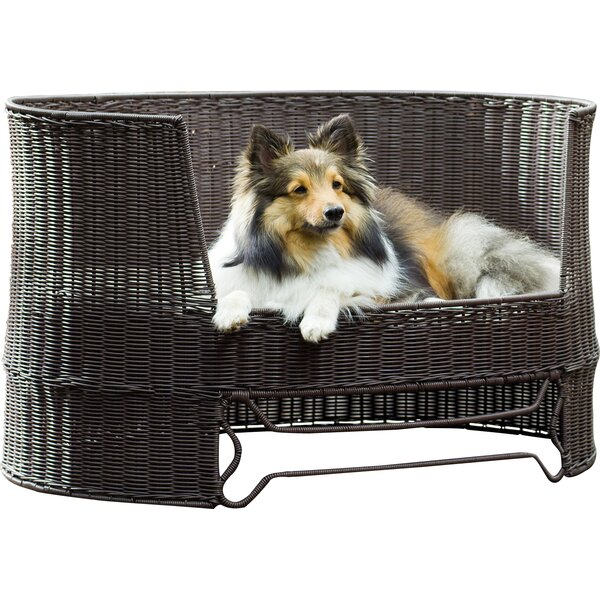Dog Day Bed with Outdoor Cushion by The Refined Canine