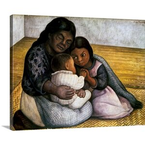 Rivera: Mother and Children by Diego Rivera Painting Print on Canvas by Canvas On Demand