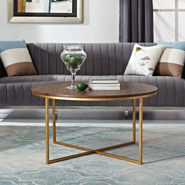 Sheilds Cross Legs Coffee Table with Storage by Mercer41 Mercer41