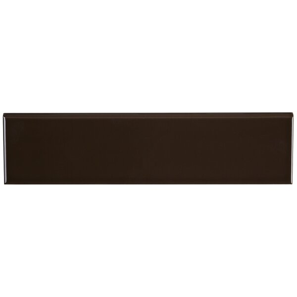 Ponderosa 16 x 4 Ceramic Bullnose Tile Trim in Cacao by Itona Tile
