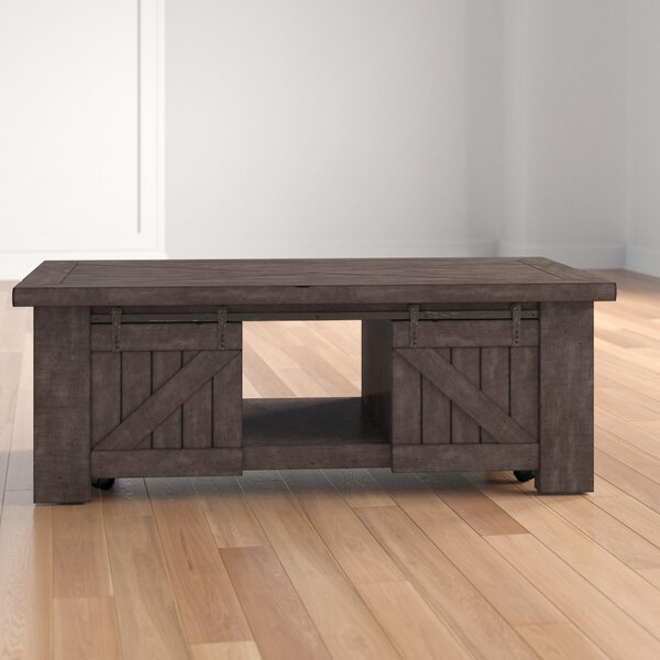 Roopville Solid Wood Lift Top Coffee Table With Storage By Three Posts