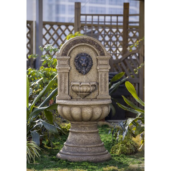 Resin/Fiberglass Classic Lion Head Fountain by Jeco Inc.