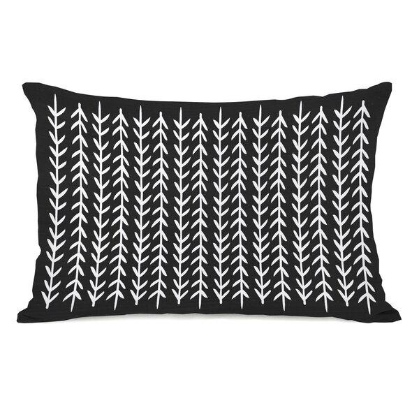 Boyle Leaf Stripes Lumbar Pillow by Gracie Oaks