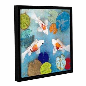 Koi 2 Framed Painting Print by Latitude Run