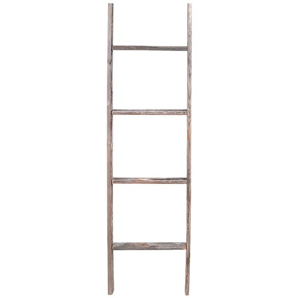 Rustic Wood 4 Ft Decorative Ladder By Rustic Decor.
