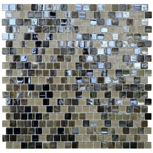 Opal 0.63 x 0.63 Glass Mosaic Tile in Tortoise Shell by Kellani
