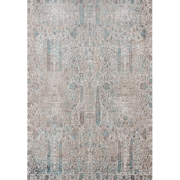 Rummond Cream/Blue Area Rug by Ophelia & Co.