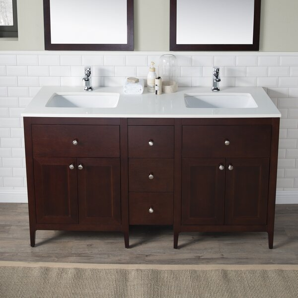 Watson 60 Double Vanity Set by INOLAV
