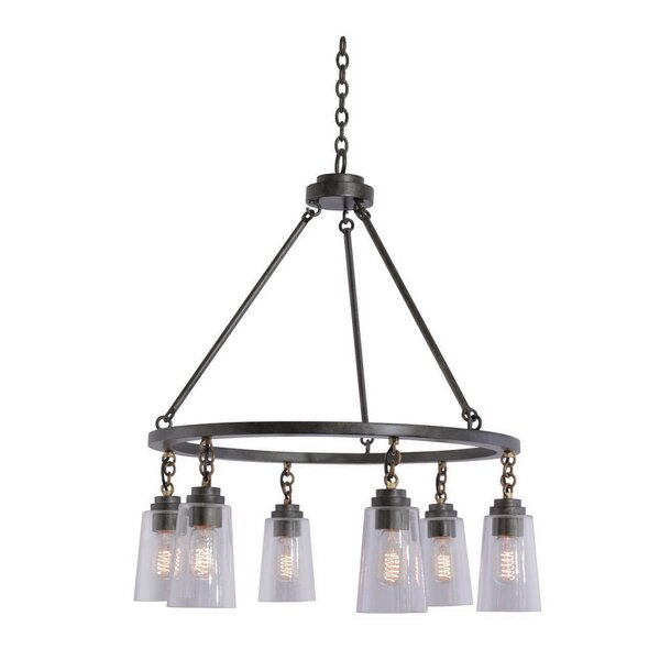 Dillon 6-Light Kitchen Shaded Chandelier by Kalco