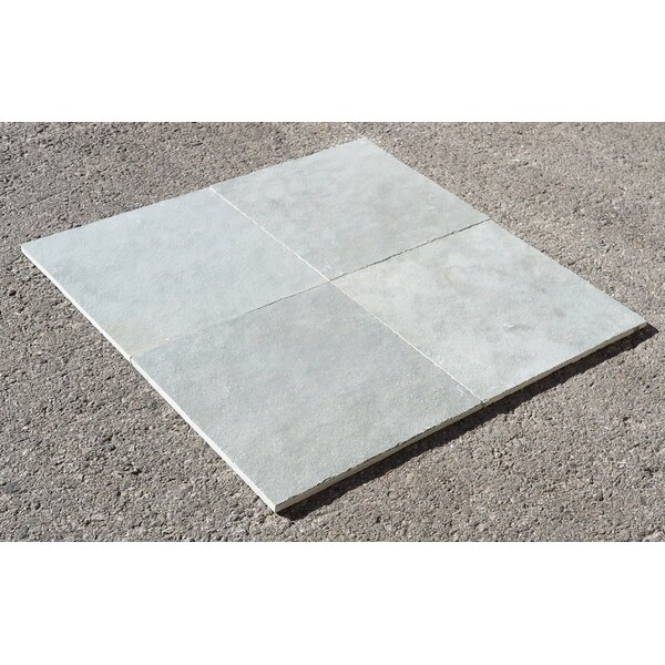 Kota Blue Natural Cleft Face, Gauged Back 12x12 Limestone Field Tile