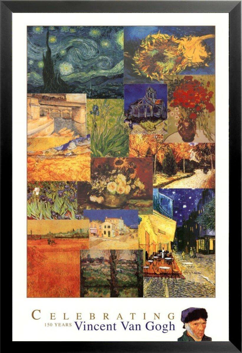 24x36 Van Gogh Cafe Terrace Art Print Poster shrink wrapped