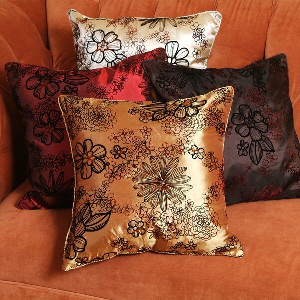 Silky Bloom Design Pillow Cover by Violet Linen