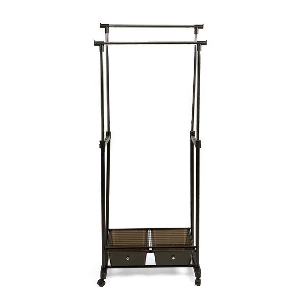 16.73 W Double Garment Rack with 2 Bottom Drawers by Mind Reader