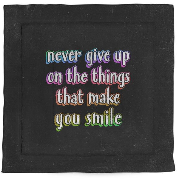 Joy & Perseverance Quote Single Reversible Comforter