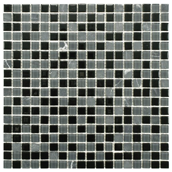 Ambit Glass/Natural Stone Mosaic Tile in Citadel by EliteTile
