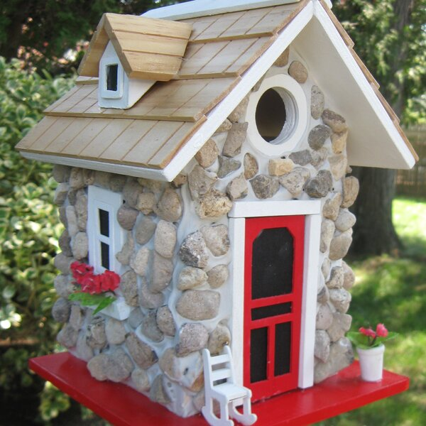 Hatchling Series Fieldstone Guest Cottage 10 in x 7 in x 7 in Birdhouse by Home Bazaar
