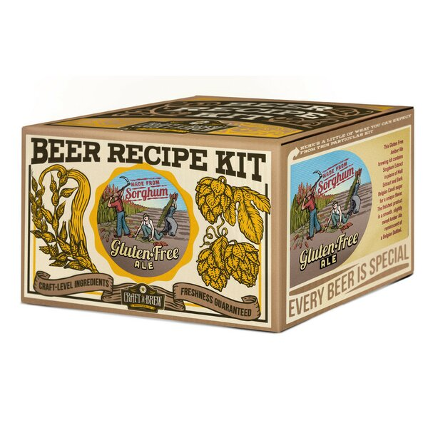Gluten Free Ale Beer Recipe Kit by Craft A Brew