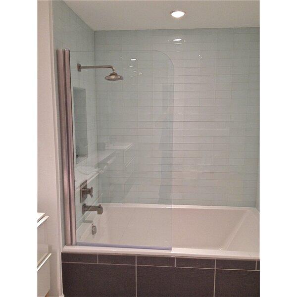 30 x 64 Pivot Semi-Frameless Tub Door by Ark Showers