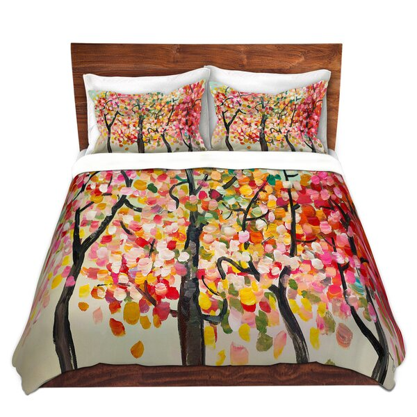 Colorful Trees V Duvet Cover Set