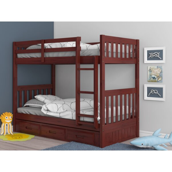 Giuseppe Twin Over Twin Bunk Bed with Drawers by Birch Lane™ Heritage