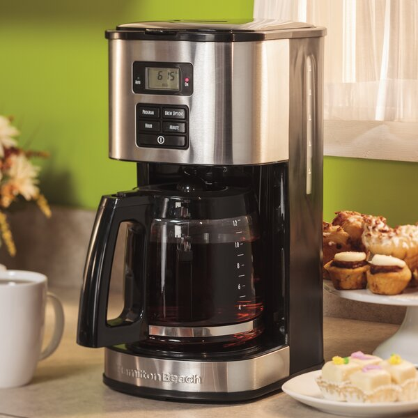 12-Cup Stainless Steel Coffee Maker by Hamilton Beach