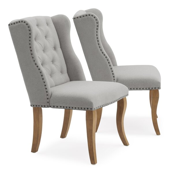 Jasper Upholstered Dining Chair (Set of 2) by One Allium Way