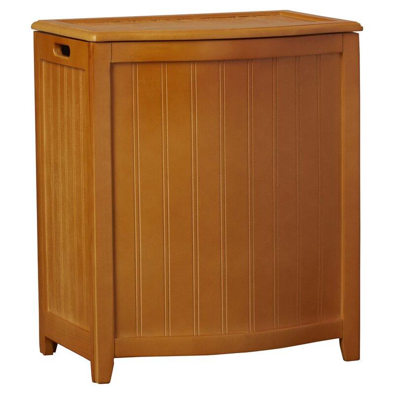 Darby Home Co Flip Lid Wood Cabinet Laundry Hamper