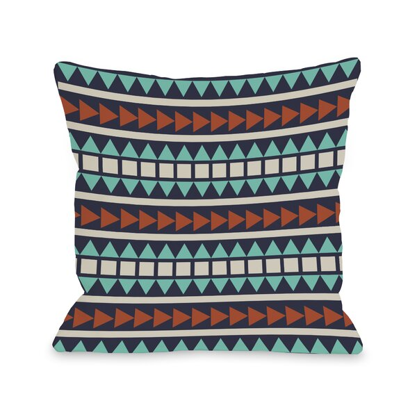 Tobi Print Geometric Throw Pillow by One Bella Casa