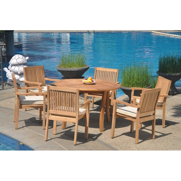 Niko 7 Piece Teak Dining Set by Rosecliff Heights