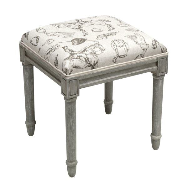 Equestrian Vanity Stool by 123 Creations