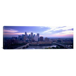 'Buildings in a City, Minneapolis, Minnesota' Photographic Print on Canvas by East Urban Home