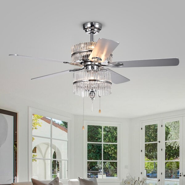 52 Ademar 5 Blade LED Ceiling Fan by House of Hampton