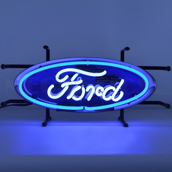 Ford Oval Junior Wall Light by Neonetics