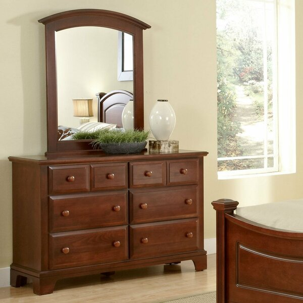 Cedar Drive 6 Drawer Double Dresser with Mirror by Darby Home Co