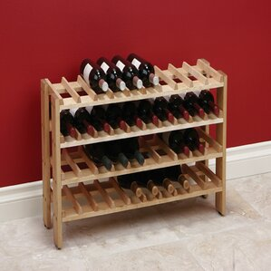 40 Bottle Floor Wine Rack by Rebrilliant