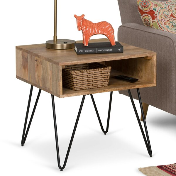 Claudia End Table with Storage by Union Rustic