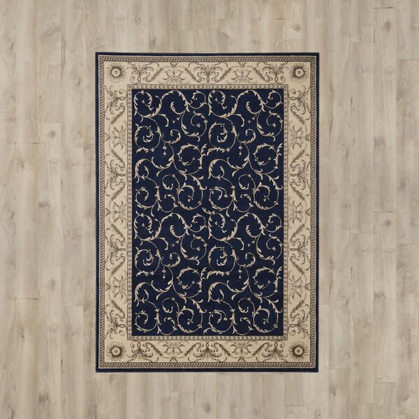 Heffner Navy Area Rug by Darby Home Co