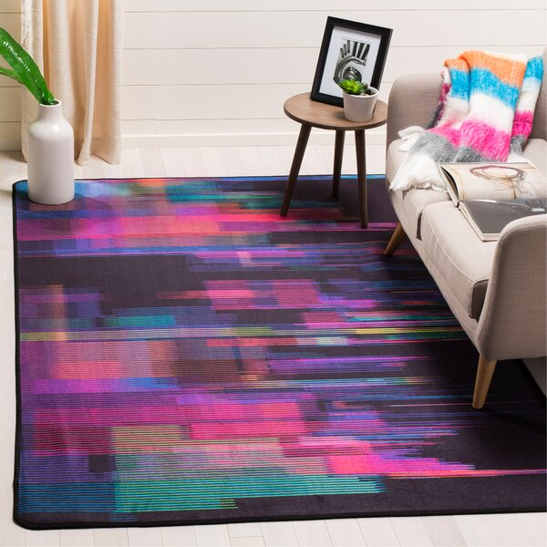 Ellesmere Rectangle Turquoise Area Rug by Ebern Designs