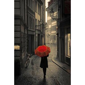 Rain by Stefano Corso Photographic Print Photographic Print on Wrapped Canvas by Red Barrel Studio